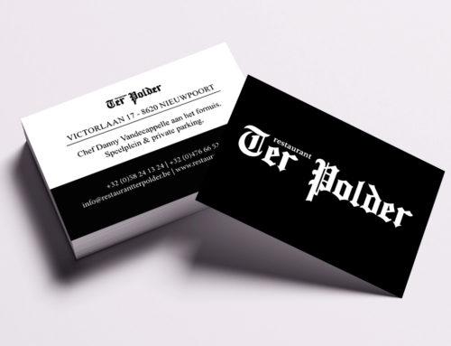 Visitekaartje Restaurant Ter Polder