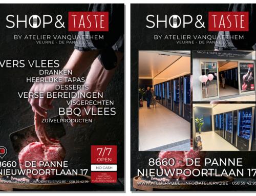 A5 Flyer Shop & Taste De Panne